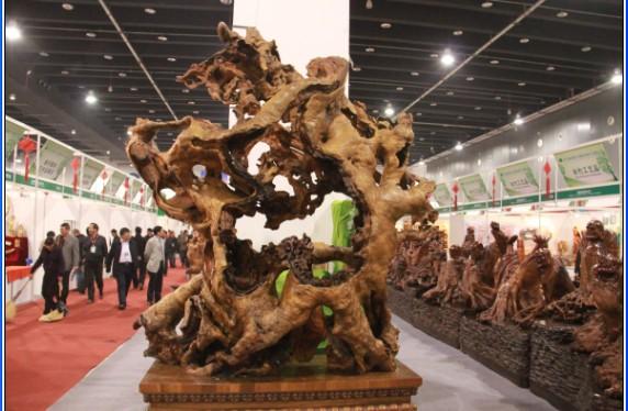 """第三届澄迈""""龙水杯""""奇石,根雕艺术文化展开幕"""